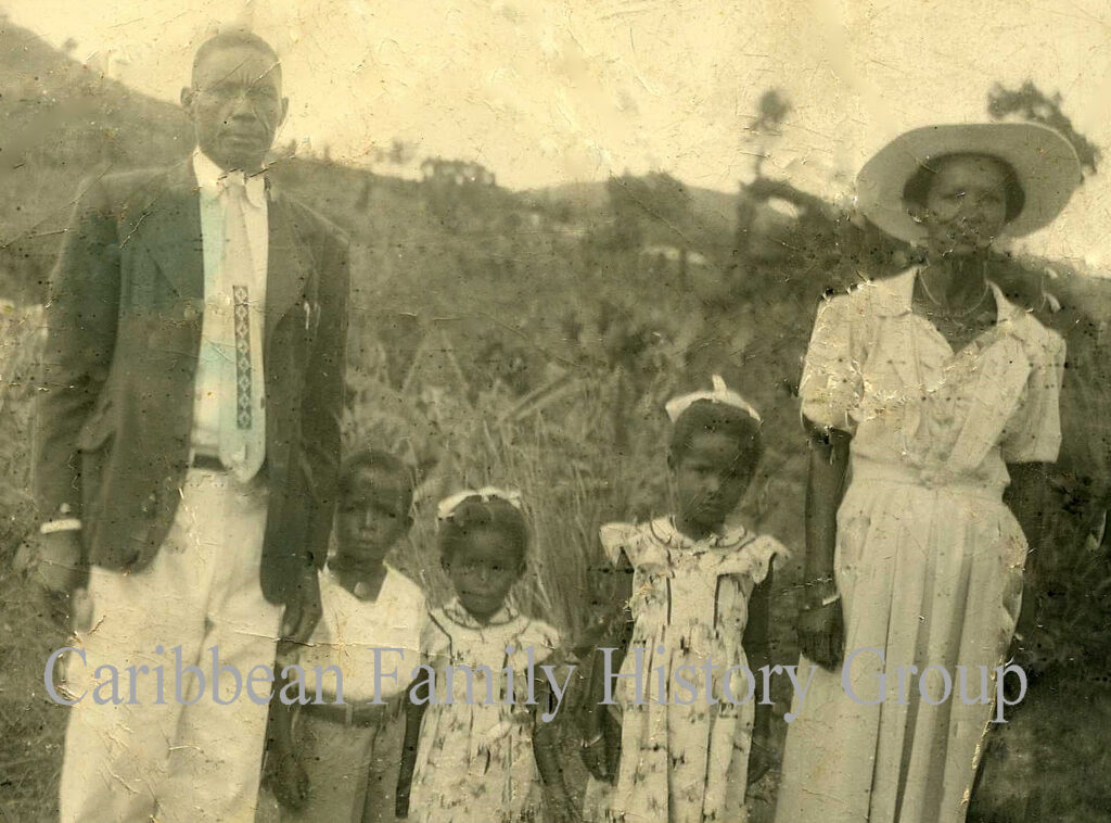 Family group in Jamaica, Caribbean family history